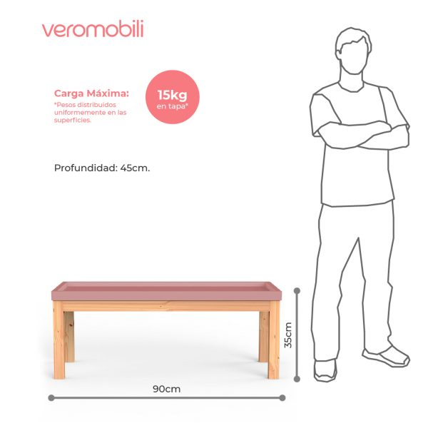 imagen tecnica mesa de centro rectangular